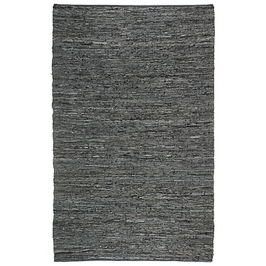 Latitude Run Sandford Chindi Hand Woven Black Rug; 9' x 12'
