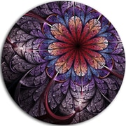 DesignArt 'Glittering Bright Colorful Fractal Flower' Floral Graphic Art Print on Metal