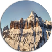 DesignArt 'Overcast Sky over Italian Alps' Photographic Print on Metal; 11'' H x 11'' W x 1'' D