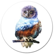 DesignArt 'Owl Double Exposure Illustration' Graphic Art Print on Metal; 11'' H x 11'' W x 1'' D