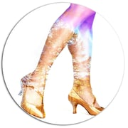 DesignArt 'Dancer Legs and Treescape Double Exposure' Graphic Art Print on Metal