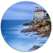 DesignArt 'Beautiful Italian Seashore View' Photographic Print on Metal; 11'' H x 11'' W x 1'' D