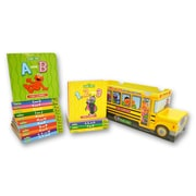 Sesame Street ABC's and 123's School Bus (hardcover) 9781607456636B