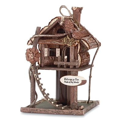 Zingz & Thingz Neck Freestanding Bird House & Bird Feeder (WYF078280214875) photo