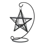 Zingz & Thingz Clear Star Iron and Glass Lantern
