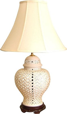 Lamp Factory Openwork Lace 28'' Table Lamp