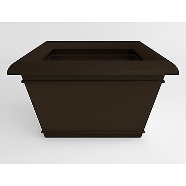 TerraCastProducts Catalina Resin Pot Planter; Cocoa Brown
