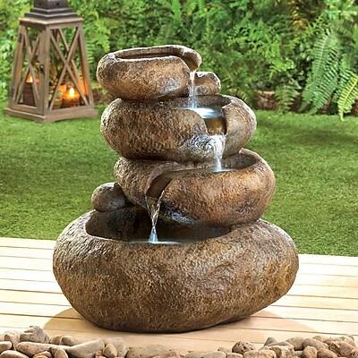 Zingz & Thingz Glowing Stones Polyresin Fountain