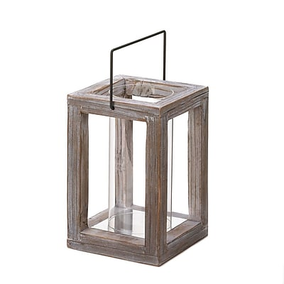 Zingz & Thingz Weathered Wood Lantern