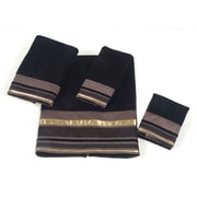 Avanti Linens Geneva 4 Piece Towel Set; Black