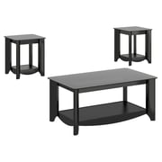 Bush Business Furniture Aero Coffee Table with 2 End Tables, Classic Black (AER005BK)