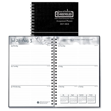 House Of Doolittle Academic Weekly Assignment Book, Black, 4/Pack (HOD274RTG02)