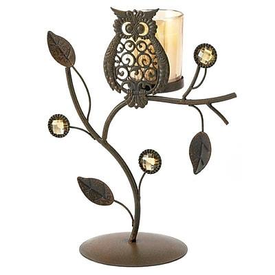 Zingz & Thingz Wise Owl Iron Candleholder
