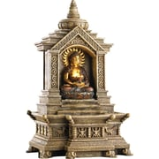 Zingz & Thingz Golden Buddha Temple Resin Fountain