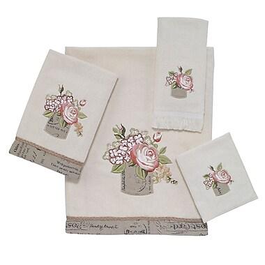Avanti Linens Antique Bouquet 4 Piece Towel Set; Ivory