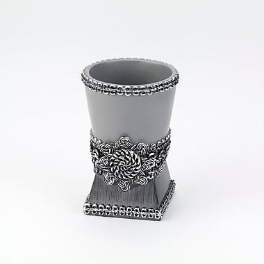 Avanti Linens Braided Medallion Tumbler & Toothbrush Holder; Granite
