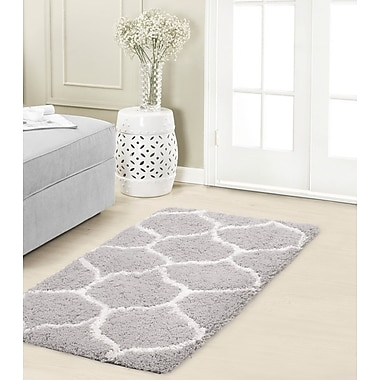 Vista Living Alfred Chunky Shag White/Gray Area Rug