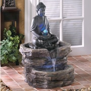 Zingz & Thingz Zen Buddha Polyresin Fountain