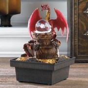 Zingz & Thingz Acrylic Red Dragon Tabletop Plastic Water Fountain w/ LED Light