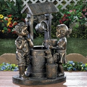Zingz & Thingz Wishing Well Fiberglass Fountain