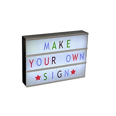 Cinematic Lightbox Sign with 88 Colour Characters (PLM27B)