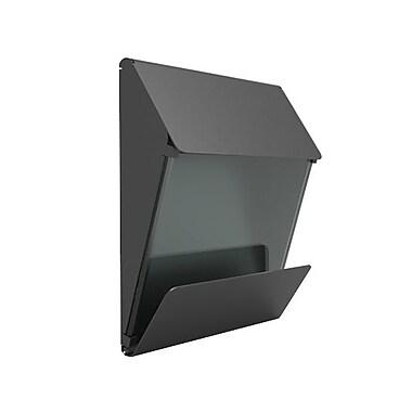 Decorpro X Press Mailbox in a Gunmetal Grey Finish