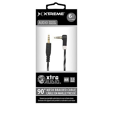 Xtreme - Câble de transfert audio de qualité supérieure XAC9-0110-REB, 6 pi