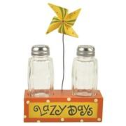 Blossom Bucket Lazy Days 2-Piece Salt and Pepper Holder Set
