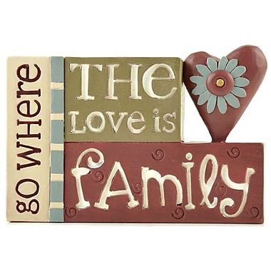 Blossom Bucket Love is Family Stacked Letter Block