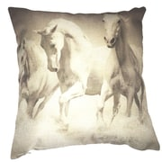 Lillowz Horses 100pct Cotton Throw Pillow