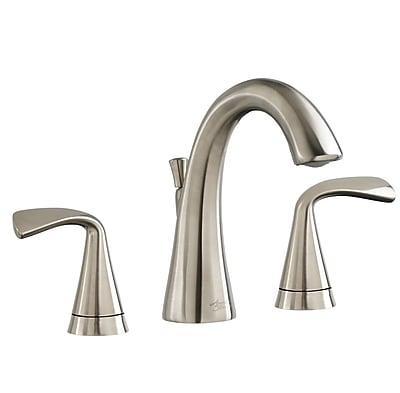 American Standard Fluent Widespread Bathroom Faucet Double Handle; Satin Nickel