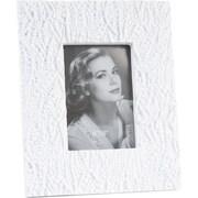 Saro Beaded Photo Picture Frame; White