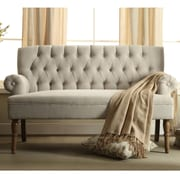 Charlton Home Barryknoll Tufted Upholstered Settee; Beige