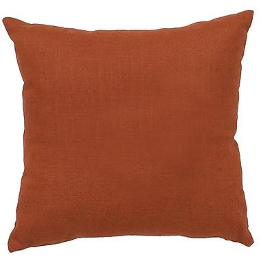 Wooded River Bear Cub Throw Pillow; Paprika