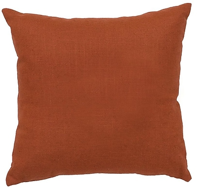 Wooded River Deer Shadow Forest Throw Pillow; Paprika