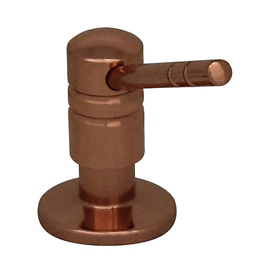 Whitehaus Collection Solid Brass 3.25'' Soap Dispenser; Polished Copper