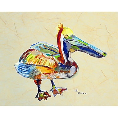 Betsy Drake Interiors Heathcliff Pelican Painting Print