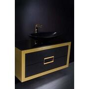 MaestroBath Danya 40'' SIngle Bathroom Vanity; Gold