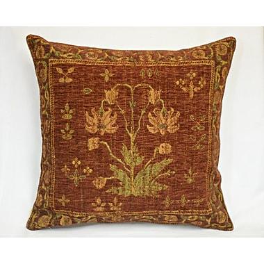 Corona Decor Country Nouveau Throw Pillow; Red