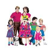 Little Folks Visuals Caucasian Family Flannelboard Set