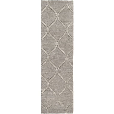 World Menagerie Massey Hand-Tufted Light Gray Area Rug; 4' x 6'