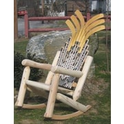 Ski Chair Hockey Stick Rocking Chair