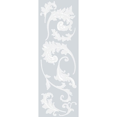 Brewster Home Fashions Scroll Etched Glass Wall Decal