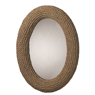 Bay Isle Home Oval Natural Rope Mirror