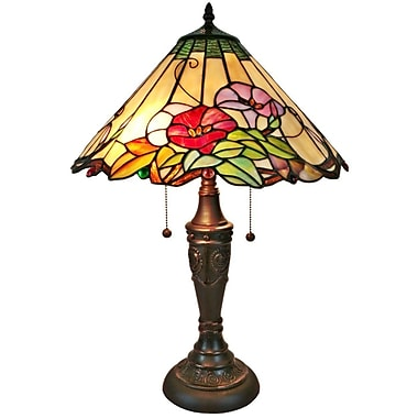 AmoraLighting Floral 24'' Table Lamp