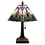 AmoraLighting Floral Mission 15'' Table Lamp