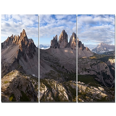 DesignArt 'Tre Cime and Monte Paterno' Photographic Print Multi-Piece Image on Wrapped Canvas