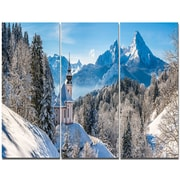 DesignArt 'Winter in the Bavarian Alps' Photographic Print Multi-Piece Image on Wrapped Canvas