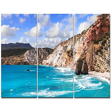 DesignArt 'Greek Islands Scenic Beaches' Photographic Print Multi-Piece Image on Wrapped Canvas