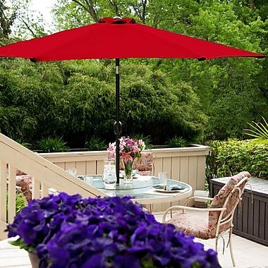 BudgeIndustries 7' Market Umbrella; Red